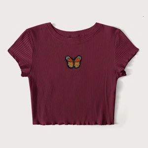 new butterfly shein tee